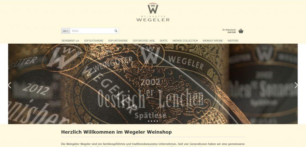 Shop Weingut Wegeler