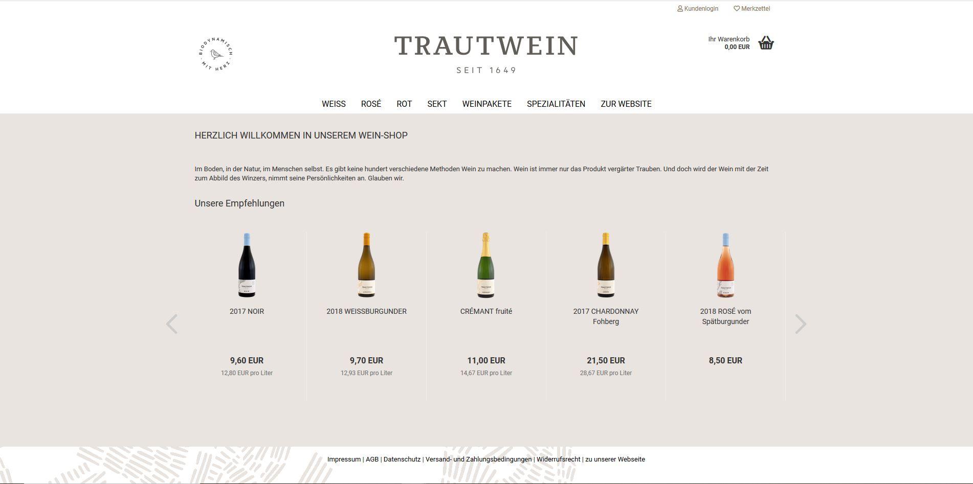 Weine vom Weingut Trautwein