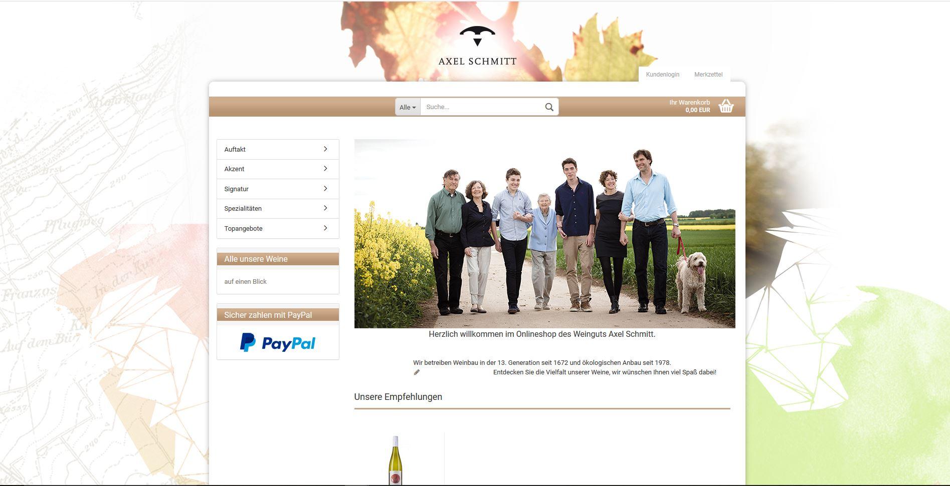 Einkaufen im Weingut Axel Schmitt